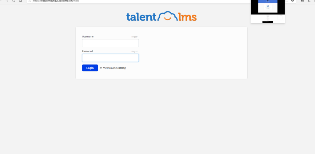 Step 7: Add log in info and password into Talent LMS